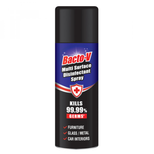 Bacto-V Multi-Surface Disinfectant Spray, 250ml - Kills 99.9% Germs