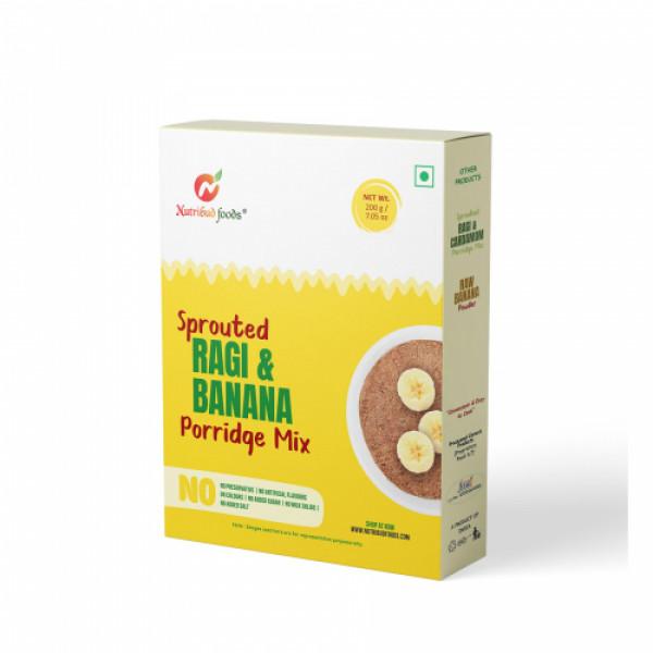 Nutribud Foods Sprotued Ragi & Banana Porridge Mix, 200gm