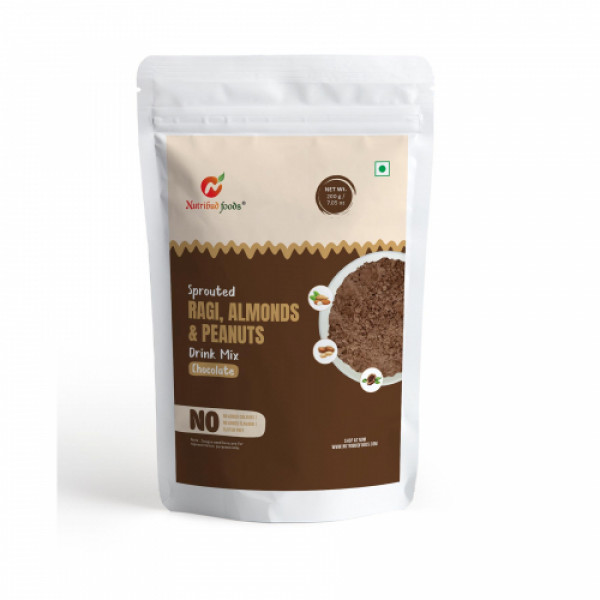 Nutribud Foods Sprouted Ragi, Almonds & Peanuts Drink Mix, 200gm