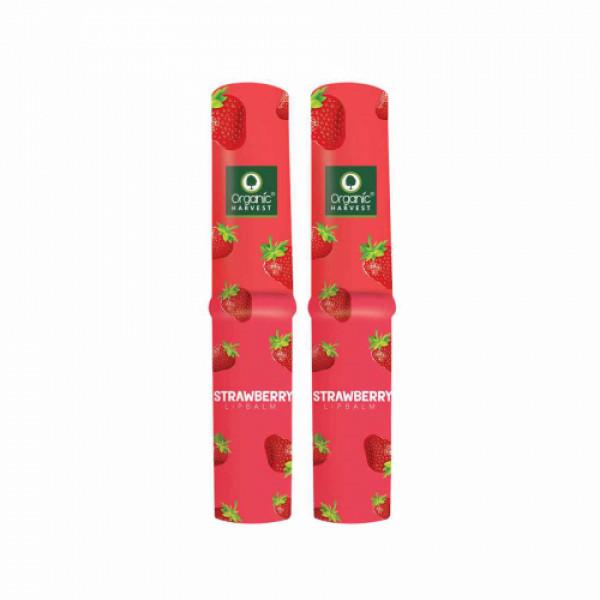 Organic Harvest Strawberry Lip Balm, 3gm (Pack Of 2)