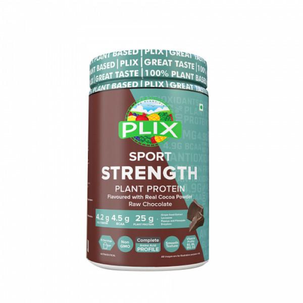Plix Sport Strength Vegan Post Workout Chocolate Flavour Protein Powder, 1kg