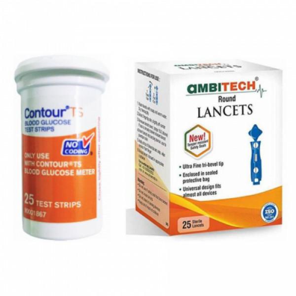 Contour TS Blood Glucose Test Strips, 25's