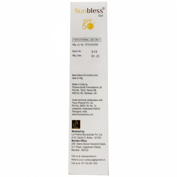 Sunbless SPF50 Silicone Sunscreen Gel, 60gm