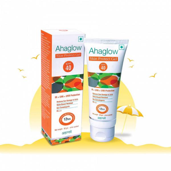 Ahaglow Skin Protect Sunscreen Gel Spf 40, 60gm