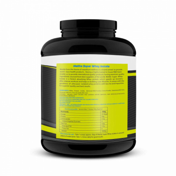 Mettle Super Whey Isolate Chocolate, 3kg