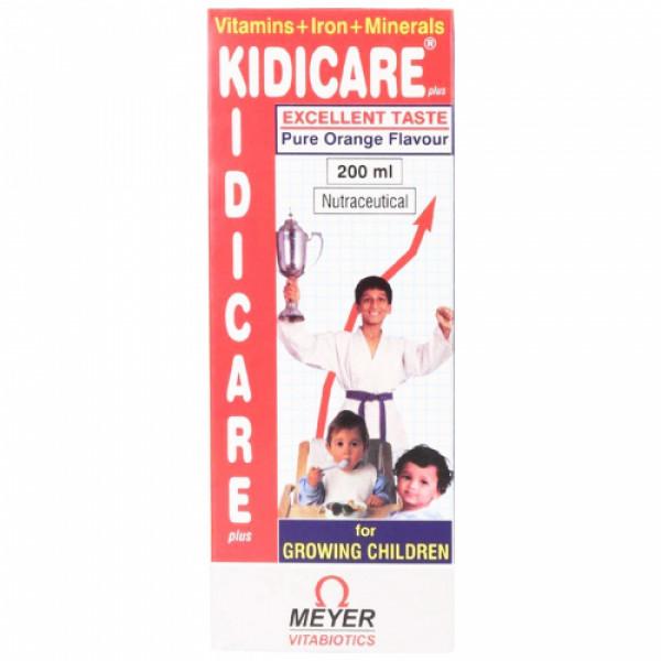Kidicare Plus Orange Syrup, 200ml