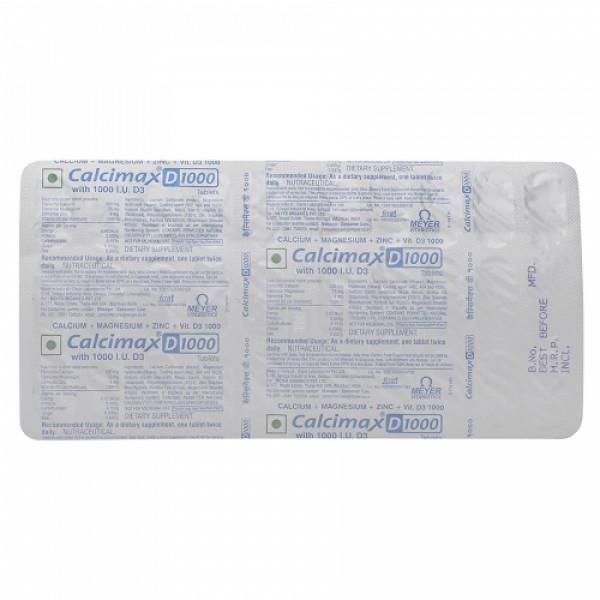 Calcimax D 1000mg, 30 Tablets