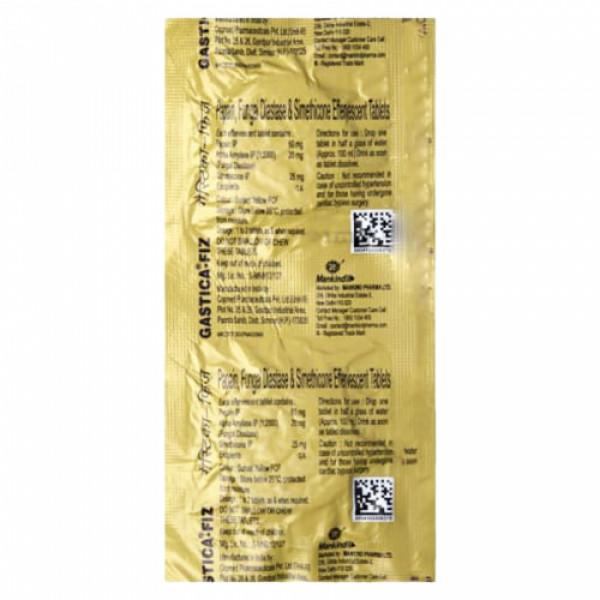 Gastica-Fiz Effervescent, 6 Tablets