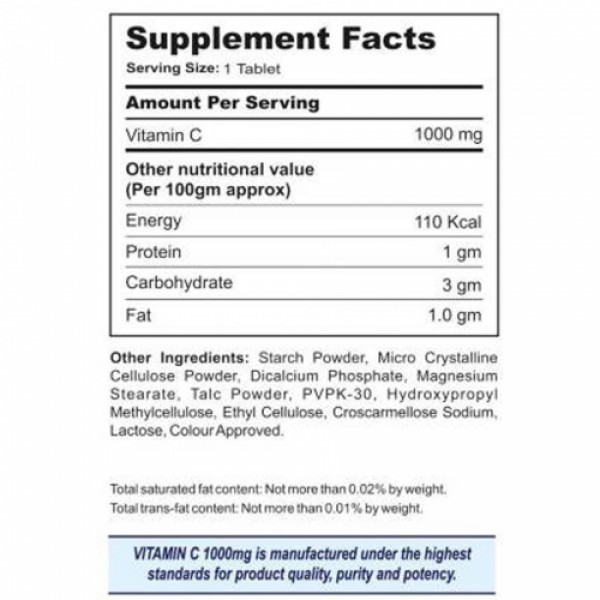 Bionova Richcee 1000mg Vitamin C, 30 Tablets