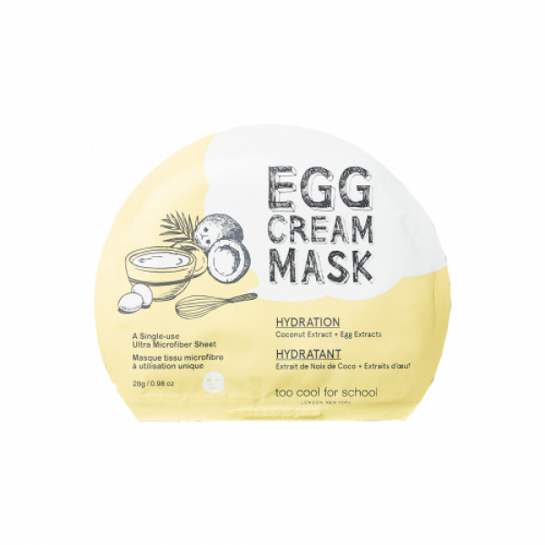 Too Cool for School Egg Cream Mask Hydration, 28gm