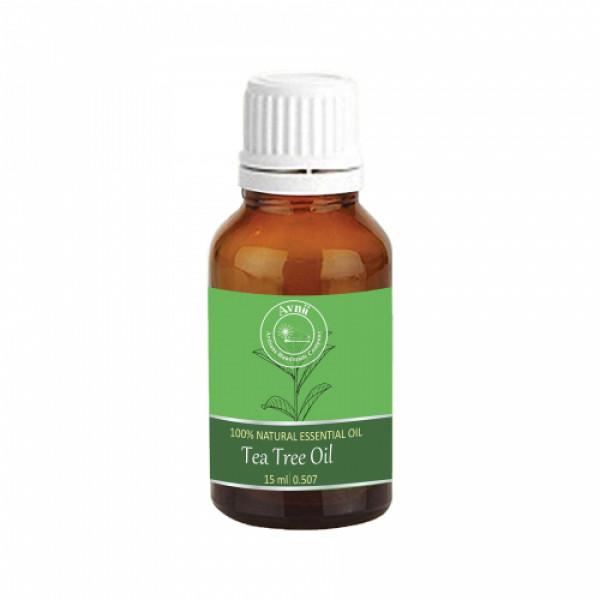 Avnii Organics Natural Tea Tree Essential Oil, 15ml