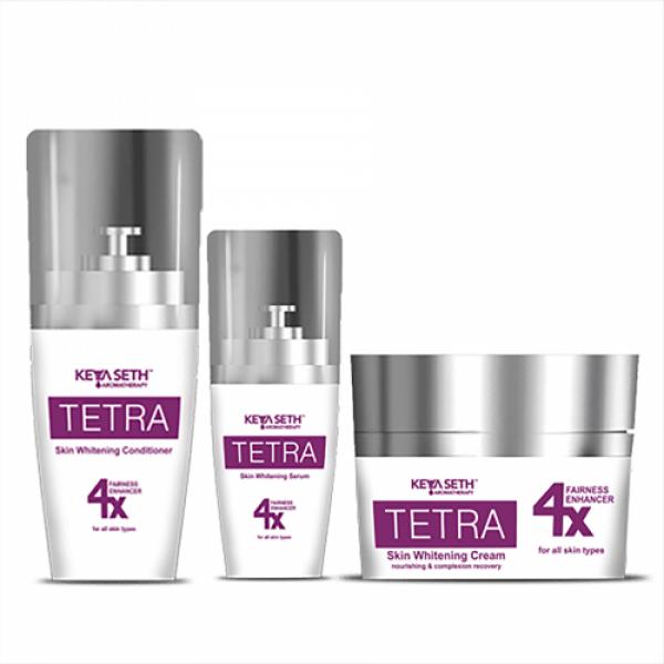 Keya Seth Aromatherapy Tetra Skin Whitening Combo Serum, Conditioner and Cream, 135gm
