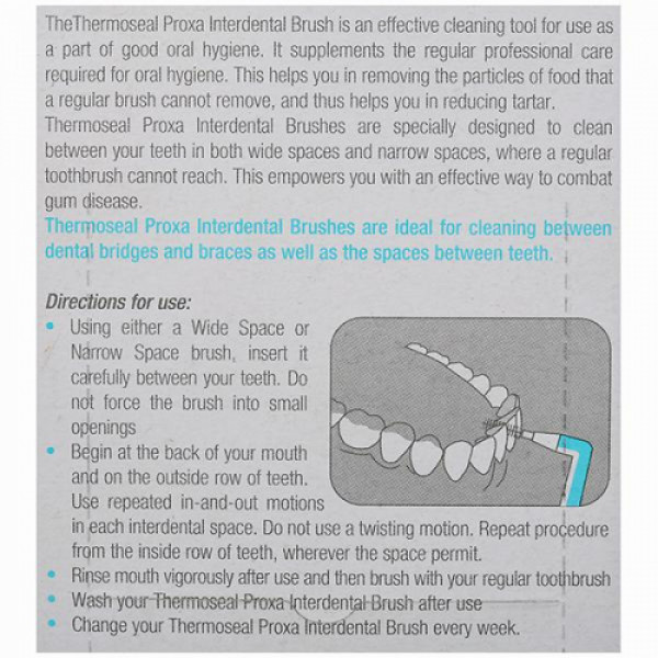 Thermoseal Proxa ns Interdental Brushes, 5 Pcs