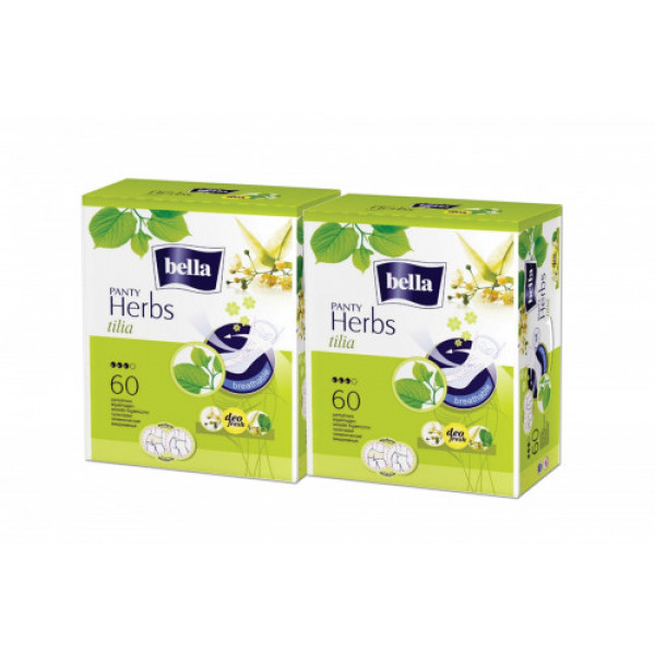 Bella Herbs Pantyliners With Tilia Flower, 60 Pieces (Pack Of 2)