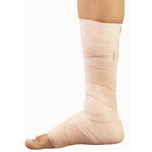 Top Grip Compression - Cotton & Rubber Elastic Bandage B.P 15cm*4m