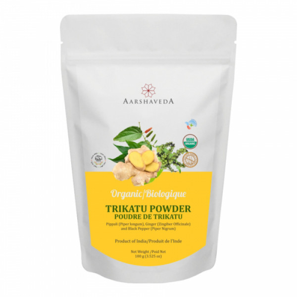 Aarshaveda Organic Trikatu Powder, 100gm