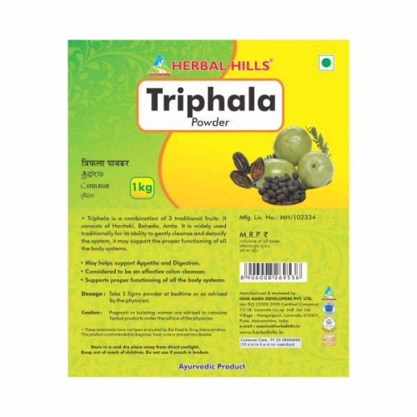 Herbal Hills Triphala Powder, 1Kg (Pack Of 2)