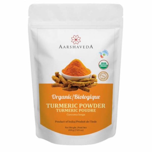 Aarshaveda Organic Turmeric Powder, 200gm