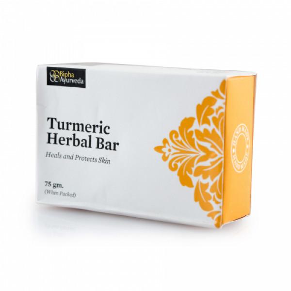 Bipha Ayurveda Turmeric Herbal Bar, 75gm
