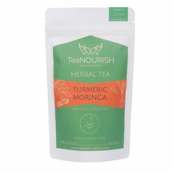 TeaNOURISH Turmeric Moringa Herbal Tea, 50gm