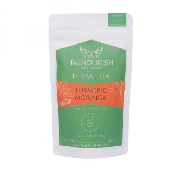 TeaNOURISH Turmeric Moringa Herbal Tea, 100gm