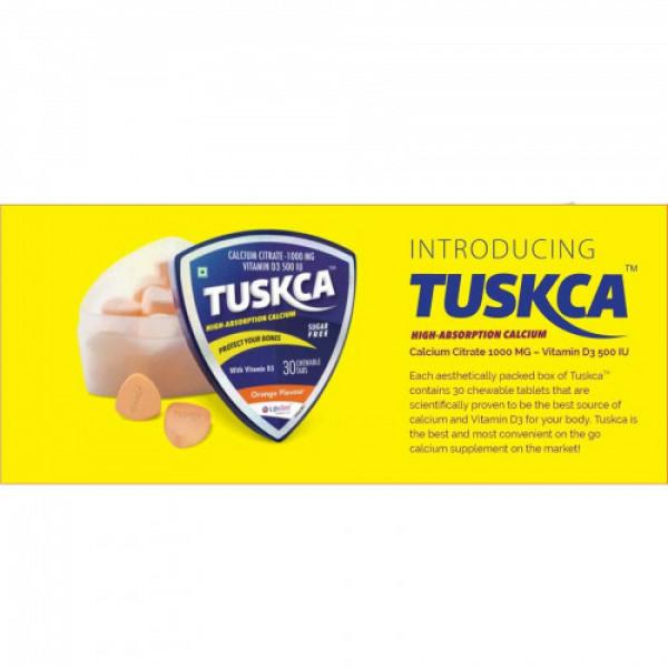 Tuskca Sugar Free Chewable Calcium Tabs - Orange Flavor