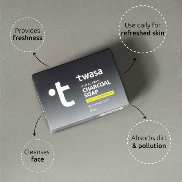 Twasa Himalayan Charcoal Soap, 125gm
