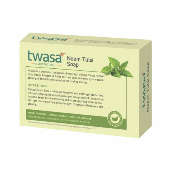 Twasa Neem Tulsi Oil Bath Soap, 100gm (Pack of 4)