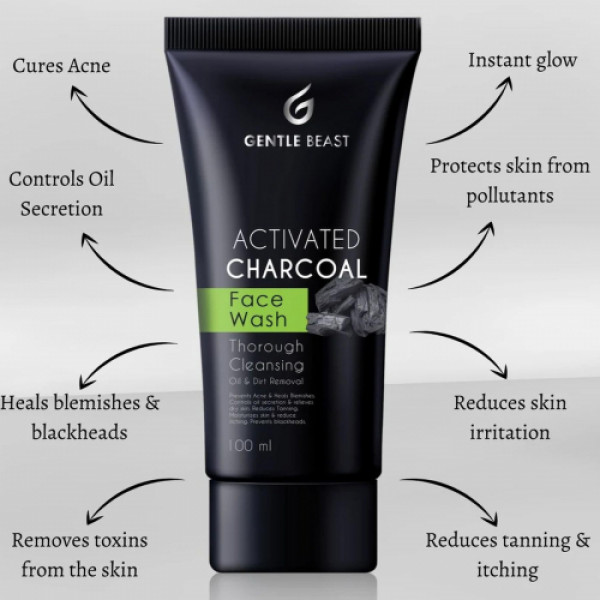Gentle Beast Activated Charcoal Face Wash, 100ml