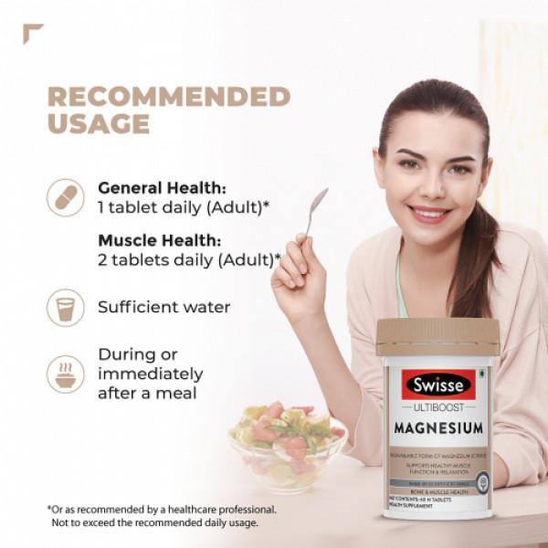 Swisse Ultiboost Magnesium Supplement, 60 Tablets