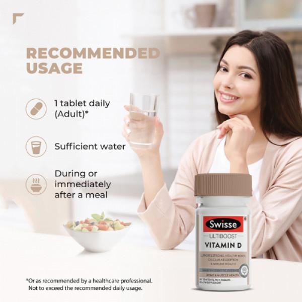 Swisse Ultiboost Vitamin D3 Supplement, 90 Tablets