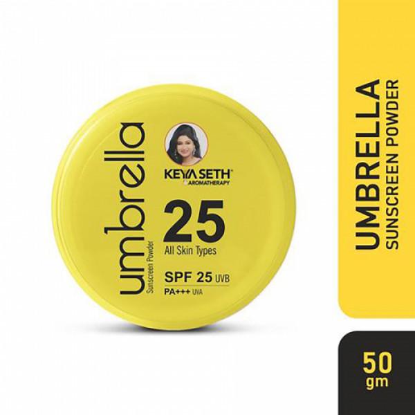 Keya Seth Aromatherapy Umbrella Sunscreen Powder SPF 25 UVB, PA+++ UVA, 50gm