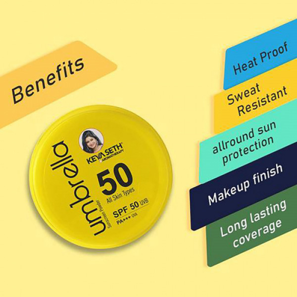 Keya Seth Aromatherapy Umbrella Sunscreen Powder SPF 50 UVB, PA+++ UVA, 50gm
