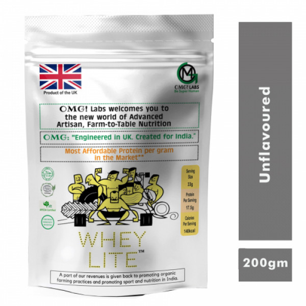 OMG Whey Lite Unflavored, 200gm