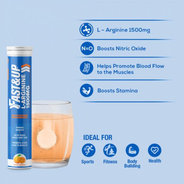 Fast&Up L-Arginine Essentials Orange Flavour, 20 Effervescent Tablets