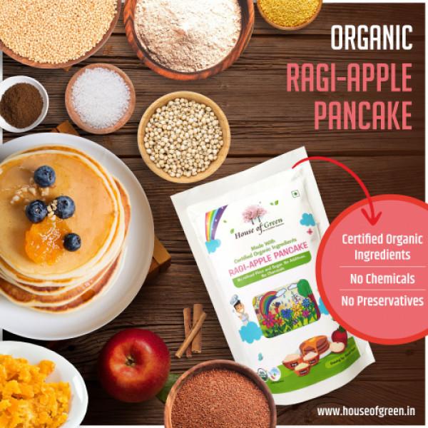 House of Green Ragi And Apple Pancake, 200gms