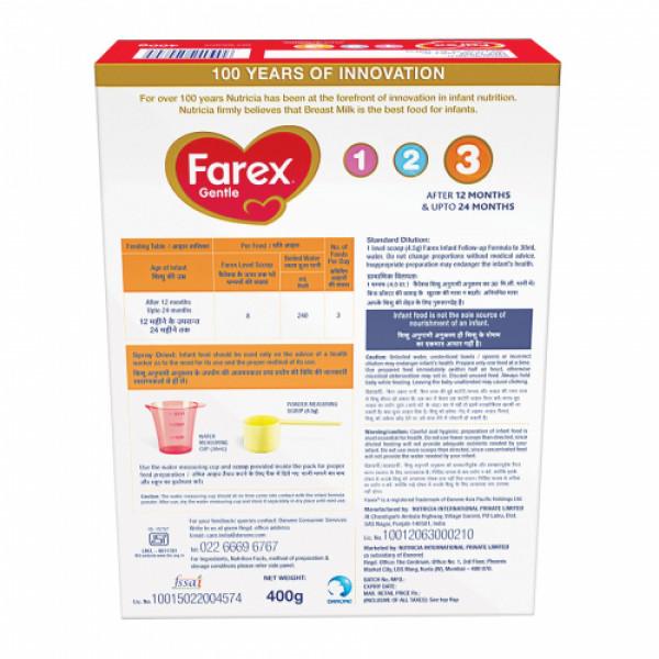 Farex 3 Follow Up Gentle Formula, 400gm