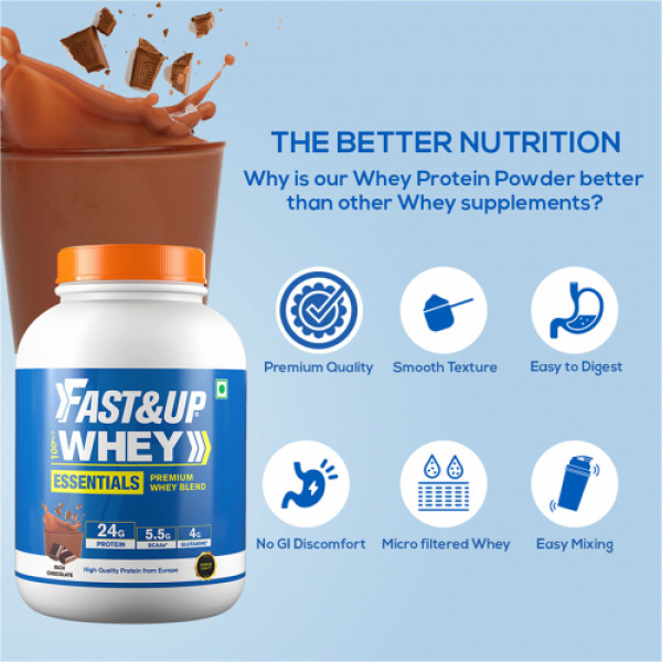 Fast&Up Rich Chocolate Whey Essentials, 60 Servings