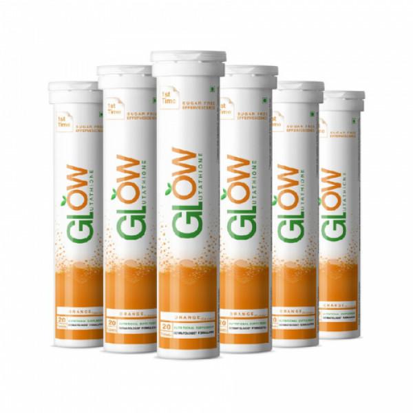 GlowGlutathione Orange Effervescent, 120 Tablets
