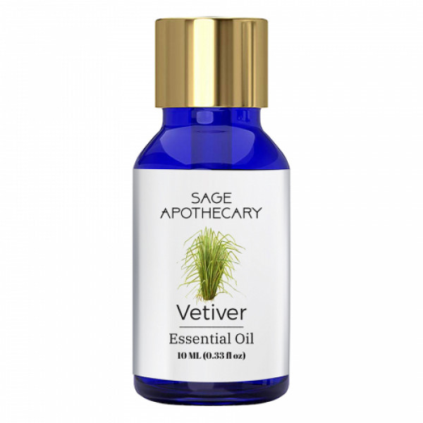 Sage Apothecary Vetiver Essential Oil, 10ml