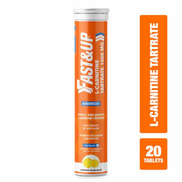 Fast&Up L-Carnitine Tartrate Lemon, 20 Tablets