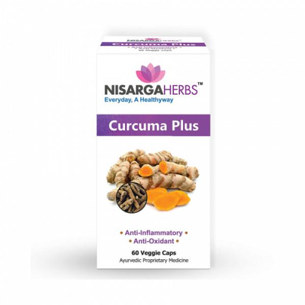 Nisarga Herbs Curcuma Plus, 60 Capsules