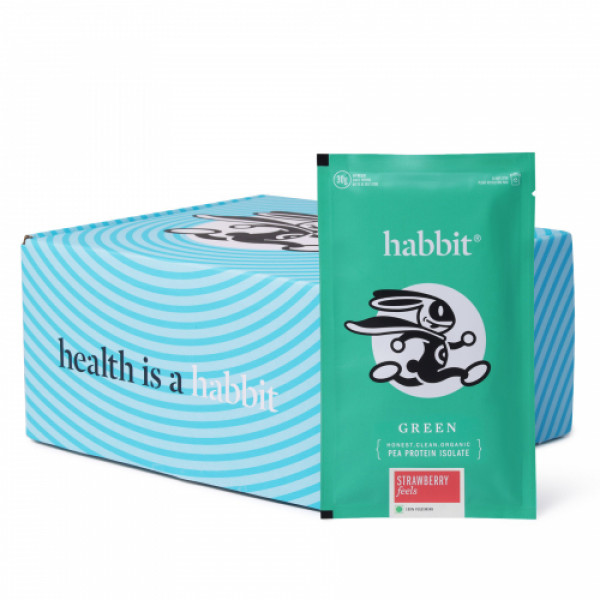 Habbit Green Vegan Pea Protein Strawberry Feels Powder, 450gm