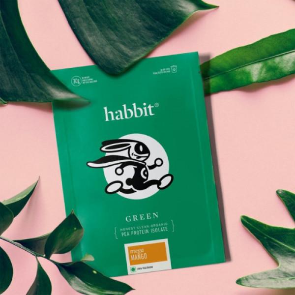 Habbit Green Vegan Pea Protein Caffe Latte Powder, 450gm