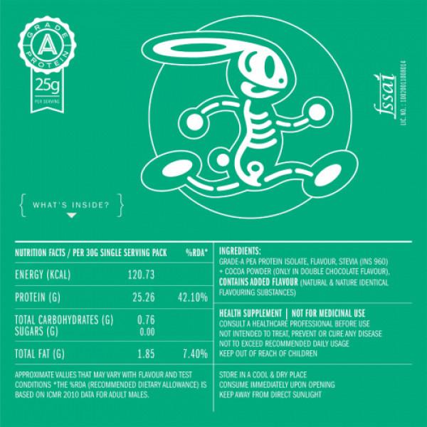 Habbit Green Vegan Pea Protein Cookie Dough Powder, 900gm