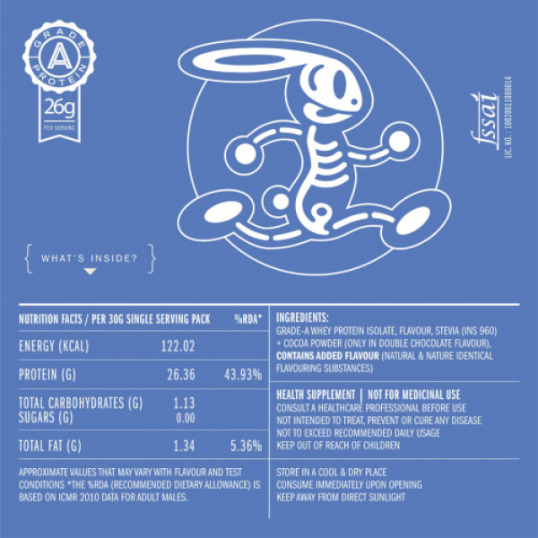 Habbit Apex Whey Isolate Protein Powder Mega Mango Flavour, 210gm (7 Servings)