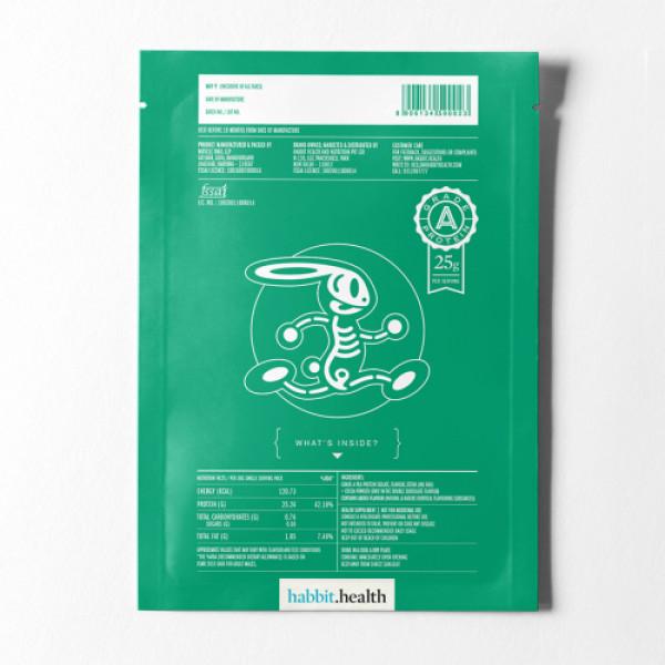 Habbit Green Vegan Pea Protein Caffe Latte Powder, 900gm