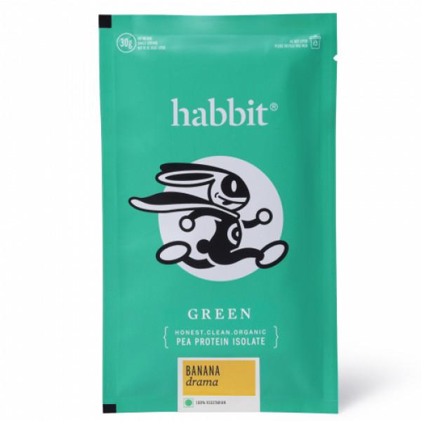 Habbit Green Vegan Pea Protein Banana Drama Powder, 210gm