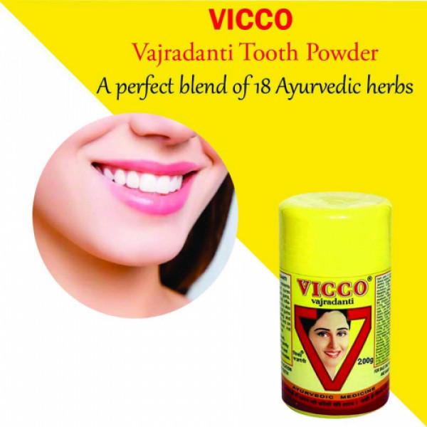 Vicco Vajradanti Tooth Powder, 200gm