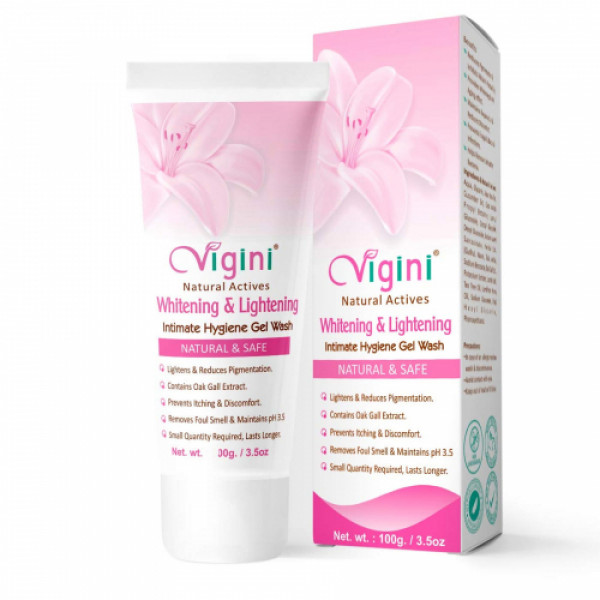 Vigini Natural Actives Intimate Hygiene Gel Wash With Lubricating Cum Stimulating Gel, 100gm (Pack Of 2)